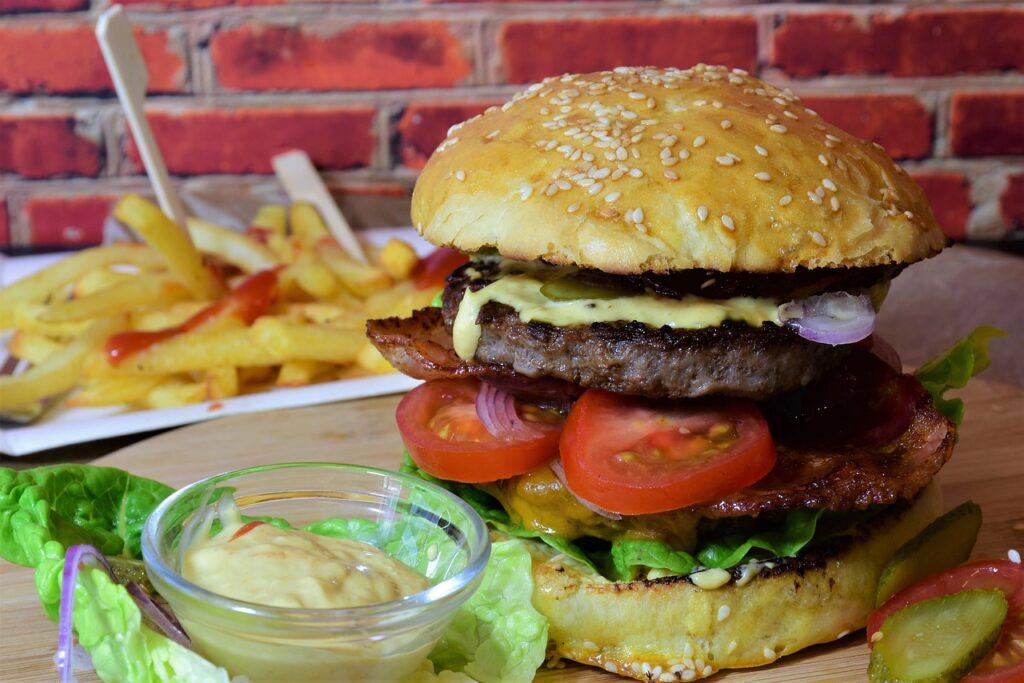 burger, hamburger, bbq